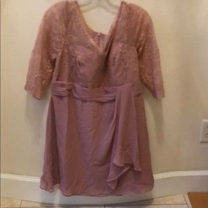 NWT Dusty Rose Dress with Jacket